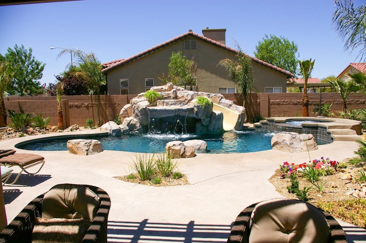 Arcadia grotto swimming pool