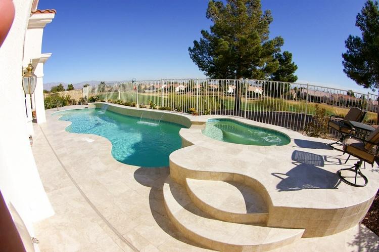 Arcadia pool coping edges